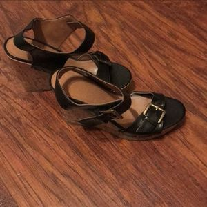 Mossimo Supply Co. Shoes - Black Buckle Wedges